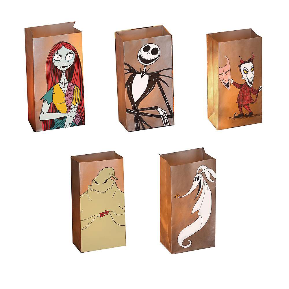 The Nightmare Before Christmas Luminary Bags with LED Candles 5ct Image #1