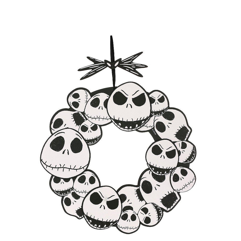 jack skellington wreath sign the nightmare before christmas image 1 - Christmas Jack Skellington