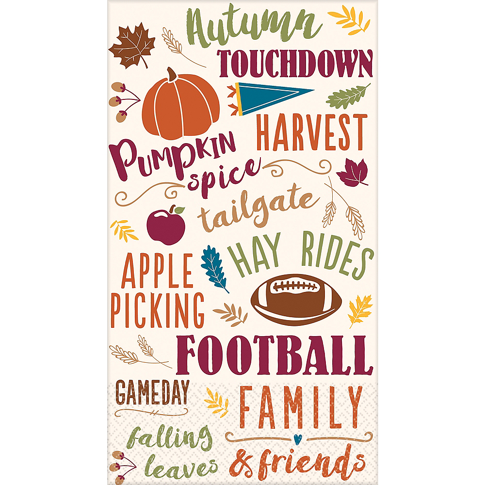 Fall Activities Guest Towel 16ct Image #1