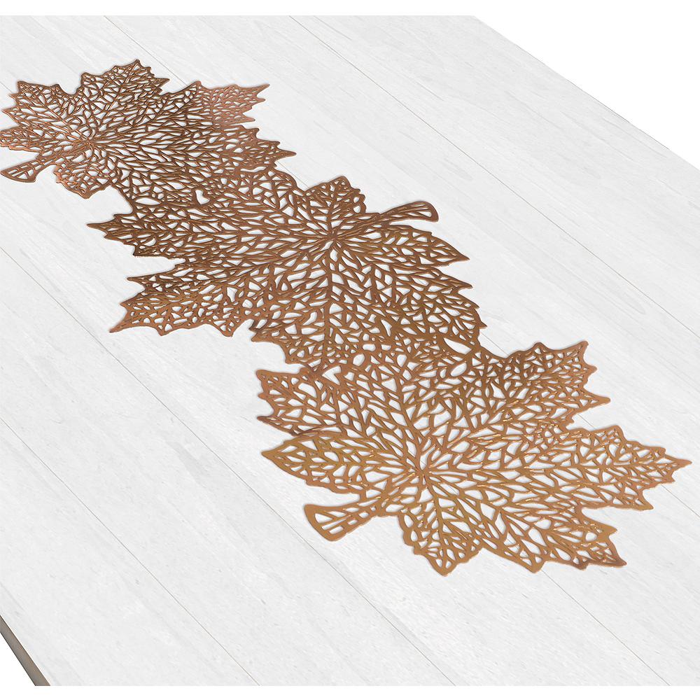 Metallic Bronze Leaf Table Runner Image #1