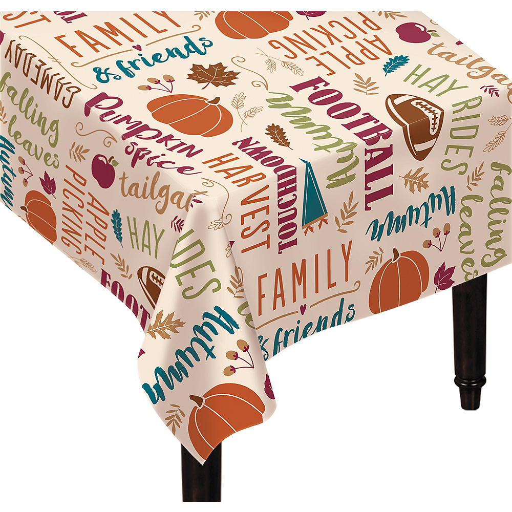 Nav Item for Fall Turkey Tablecloth Image #1