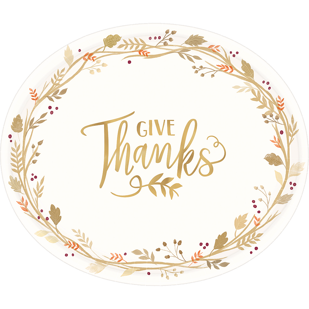 Give Thanks Oval Plates 18ct Image #1