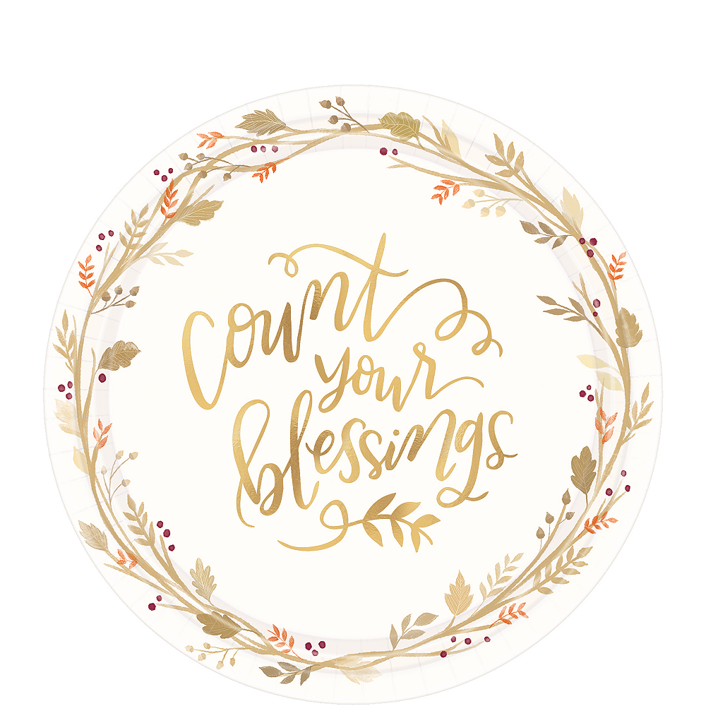 Nav Item for Count Your Blessings Dessert Plates 18ct Image #1