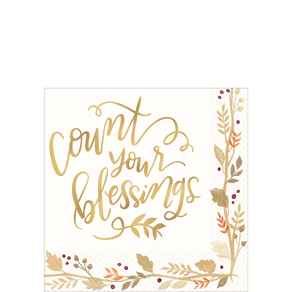 Count Your Blessings Beverage Napkins 36ct Image #1