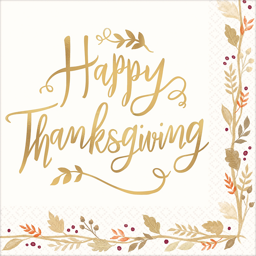 Happy Thanksgiving Dinner Napkins 36ct Image #1