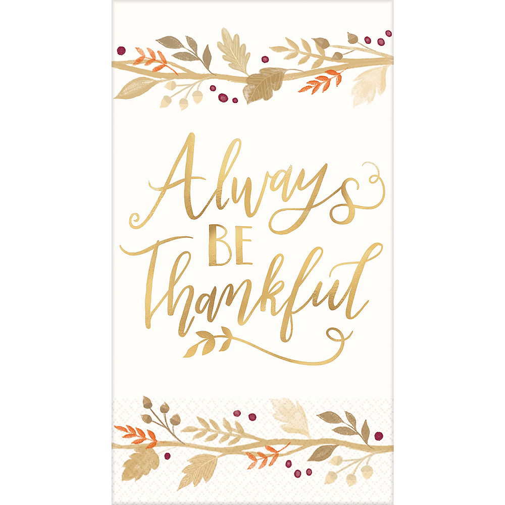 Always Be Thankful Guest Towels 16ct Image #1