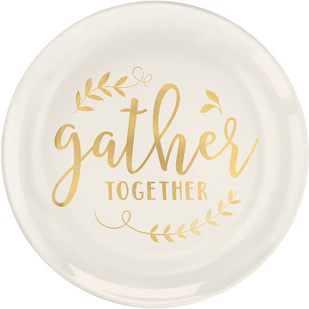 Gather Together Premium Plastic Dinner Plates 10ct Image #1
