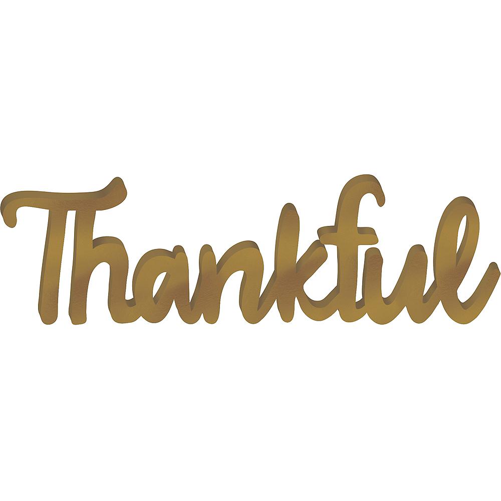 Thankful Block Letter Sign Image #1