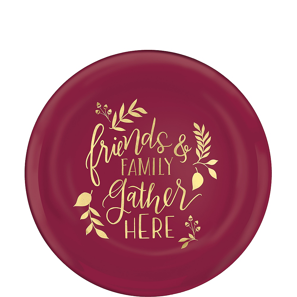 Berry Friends & Family Gather Here Dessert Plates 4ct Image #1