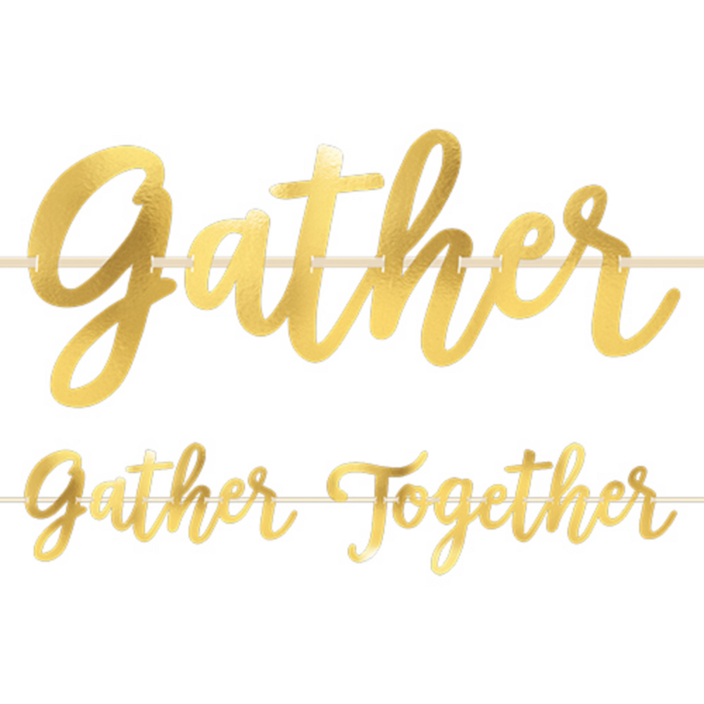 Metallic Gold Gather Together Banner Image #1
