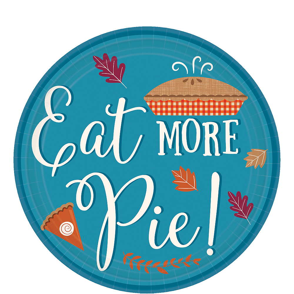 Eat More Pie Dessert Plates 8ct Image #1