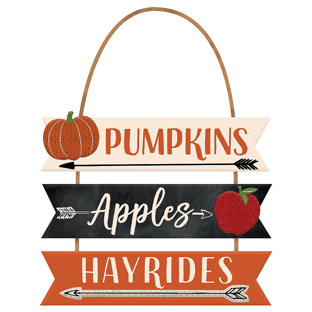 Pumpkins, Apples & Hayrides Stacked Sign Image #1