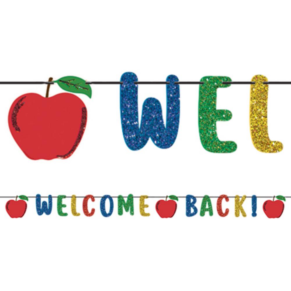 Glitter Welcome Back Letter Banner Image #1