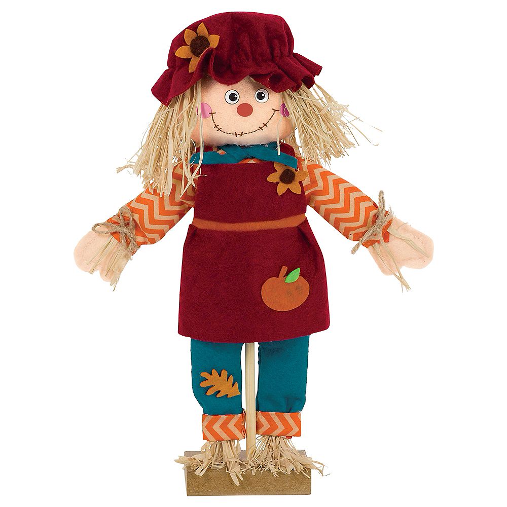 Standing Scarecrow Girl Decoration Image #1