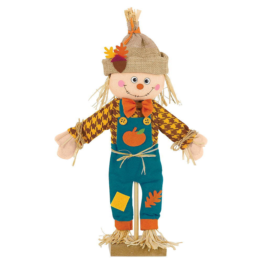 Standing Scarecrow Boy Decoration Image #1