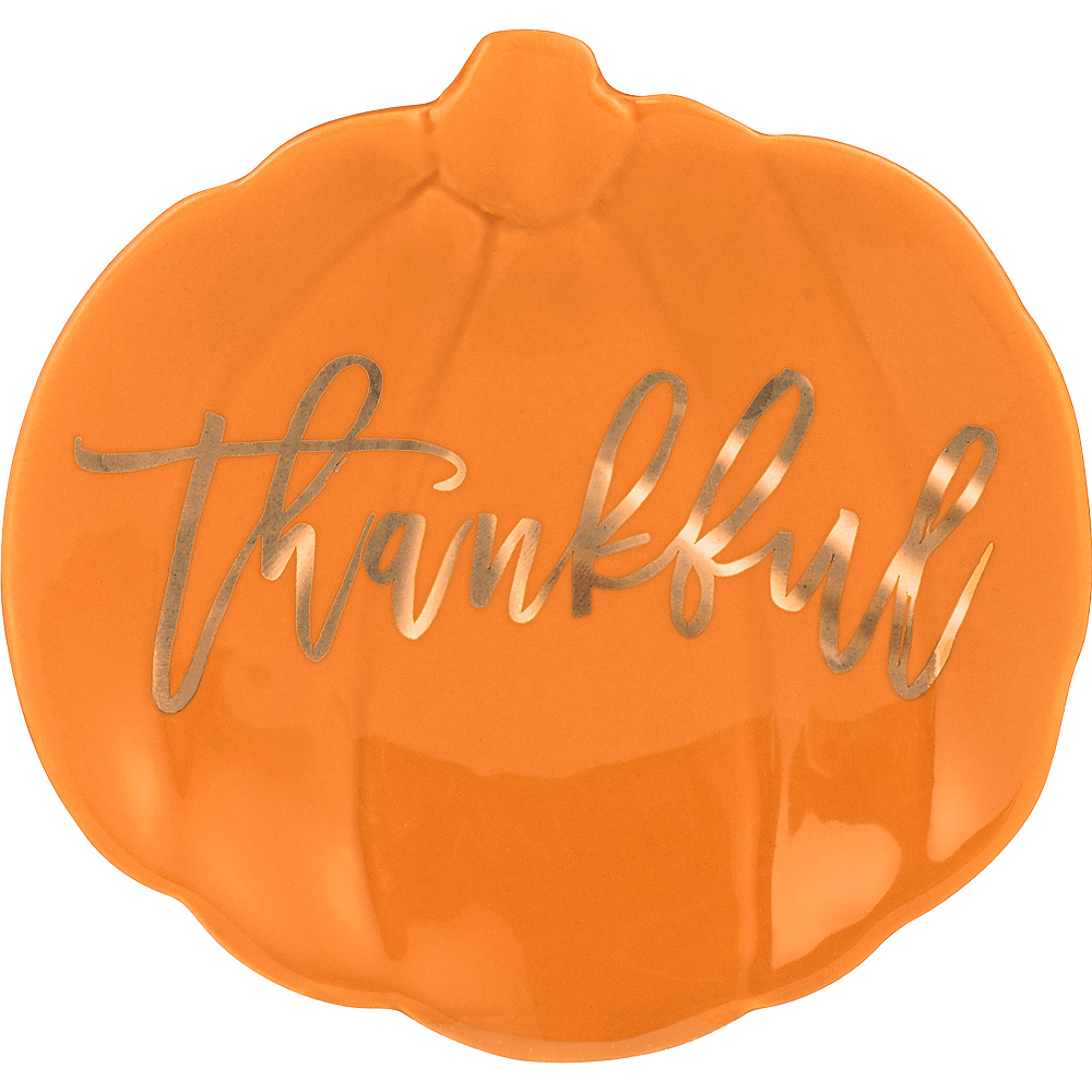 Thankful Pumpkin Trinket Dish Image #1