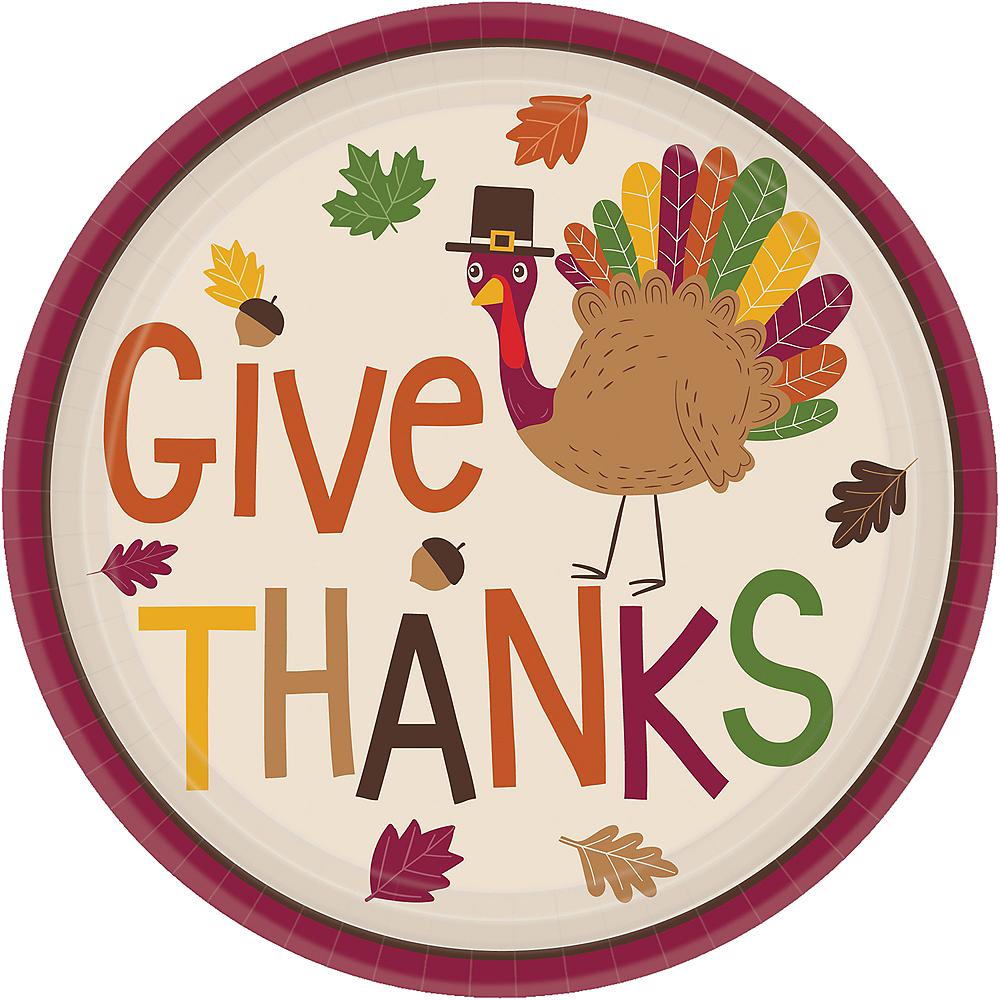 Thanksgiving Turkey Dessert Plates 18ct Image #1