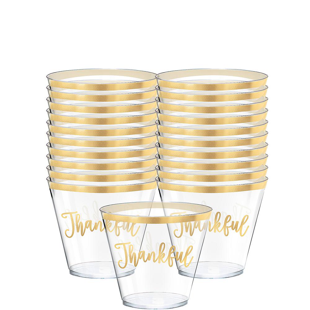 Thankful Thanksgiving Plastic Cups 30ct Image #1