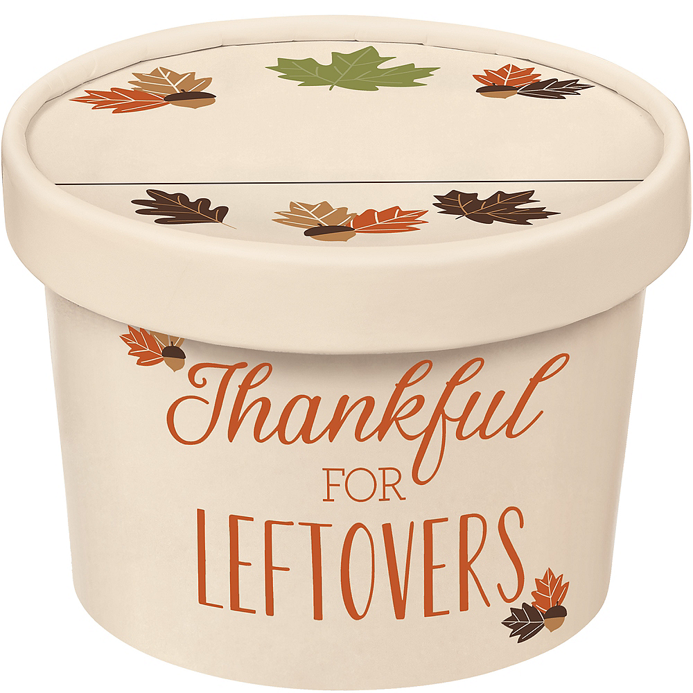 Thanksgiving Takeaway Containers 6ct Image #1