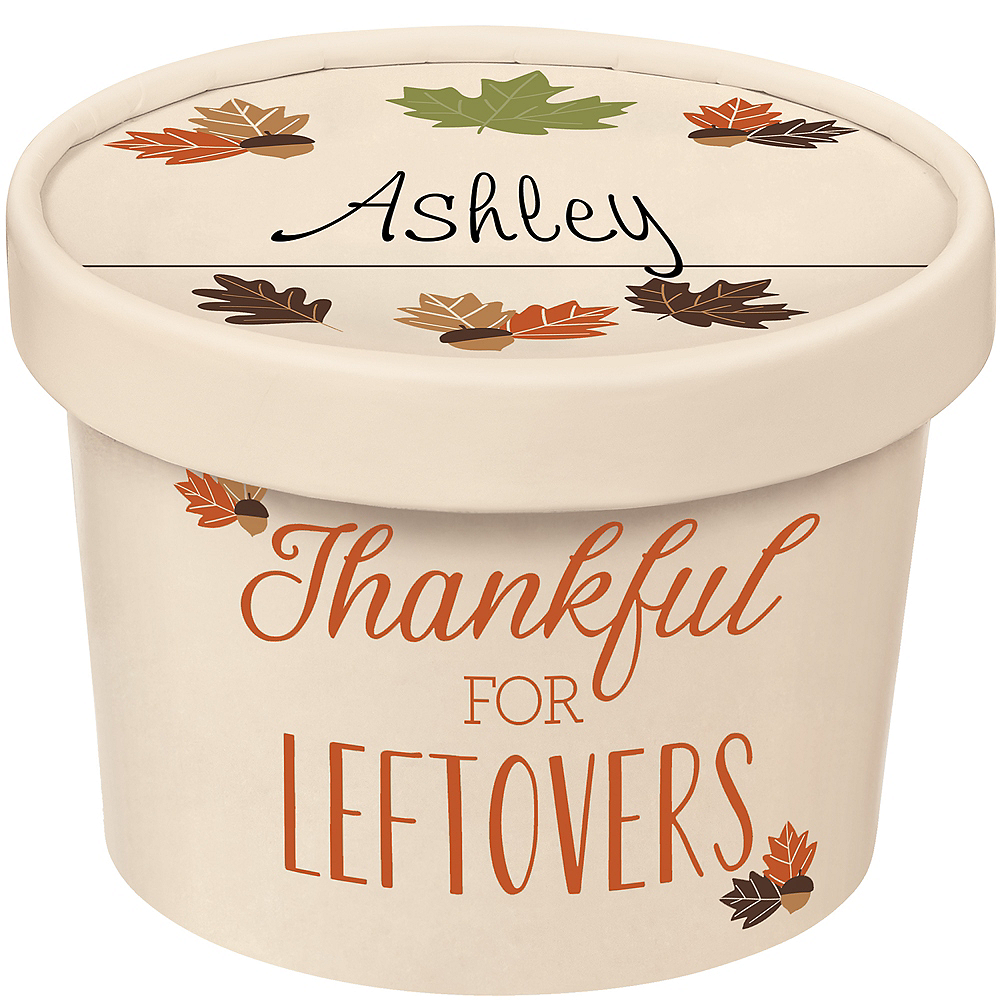 Thanksgiving Takeaway Containers 6ct Image #2