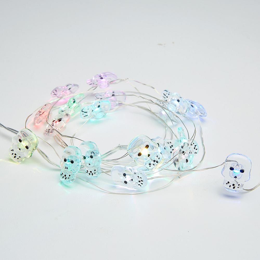 Colorful Skull String Lights Image #2