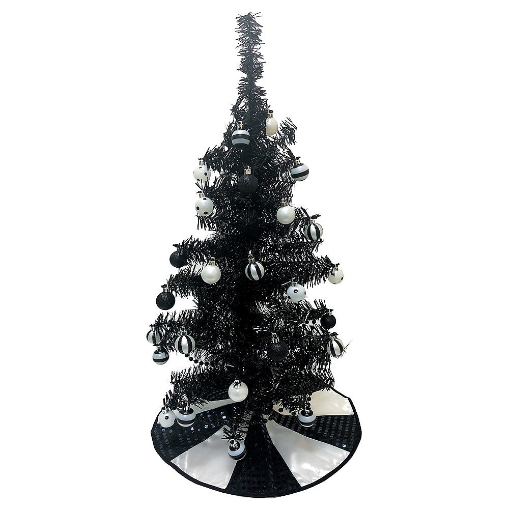 Black Tinsel Tree Image #1