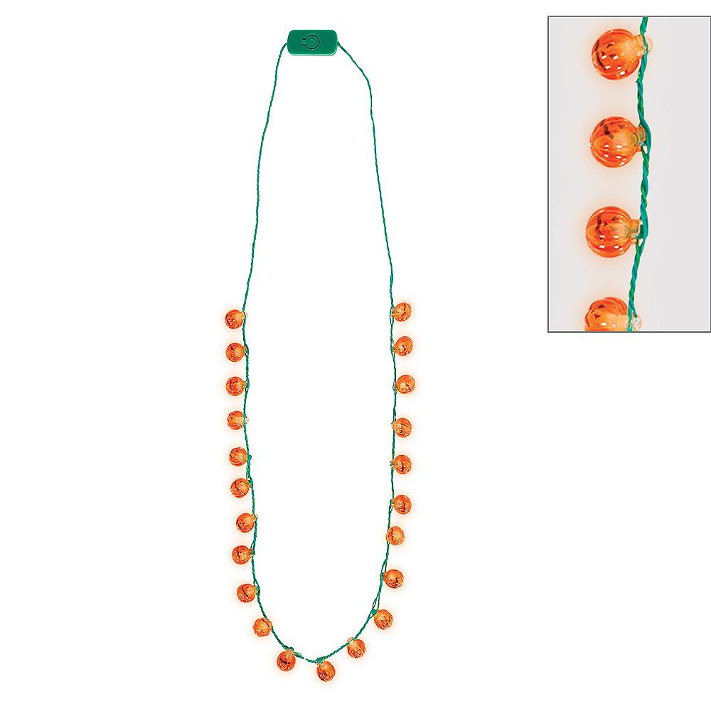 Light-Up Jack-o'-Lantern Halloween Necklace Image #1