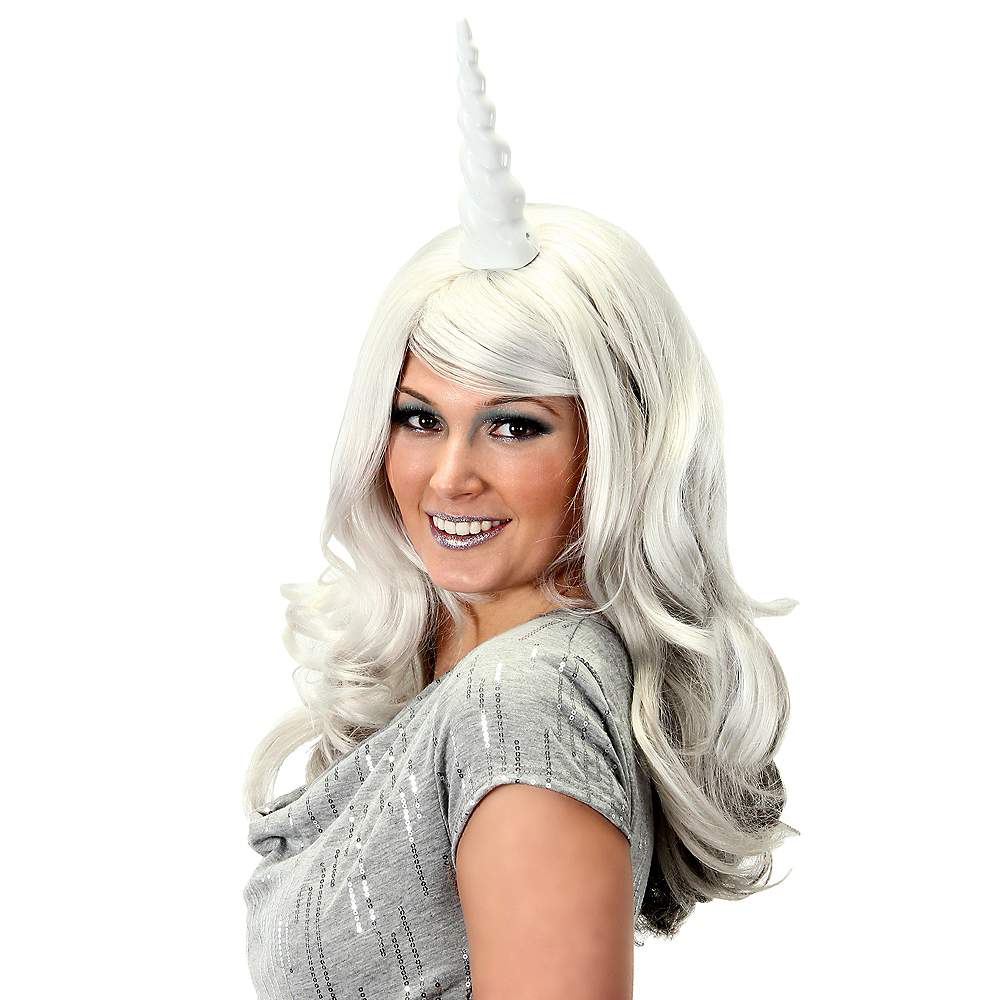 56926c619d54 White Unicorn Horn 3 1/2in x 7 1/2in | Party City Canada