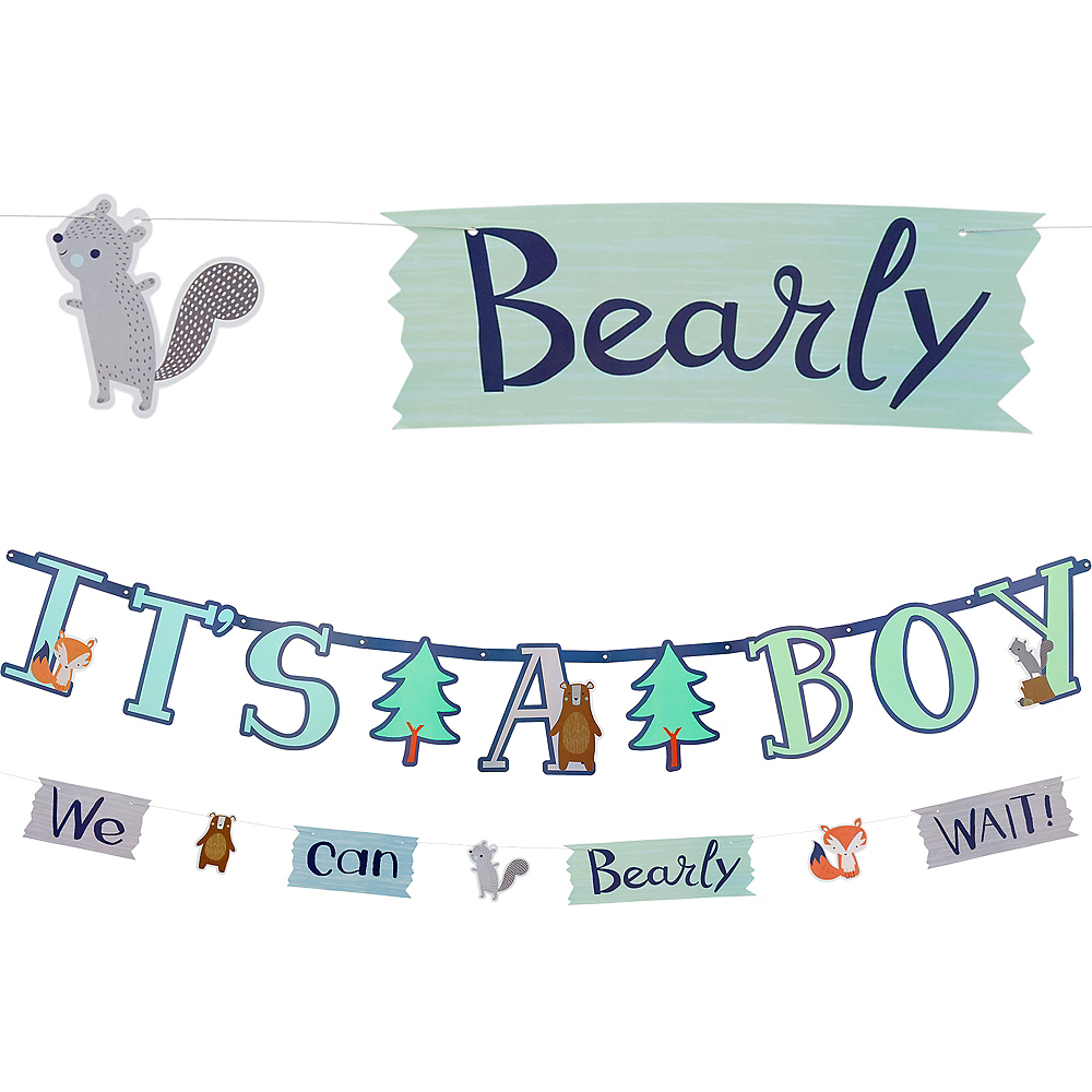 Can Bearly Wait Jumbo Letter Banner with Mini Banner Image #1