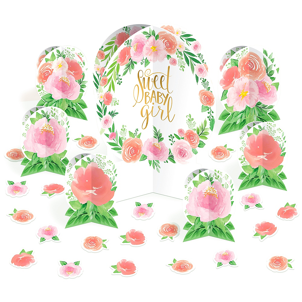 Floral Baby Table Decorating Kit 27pc Image #1