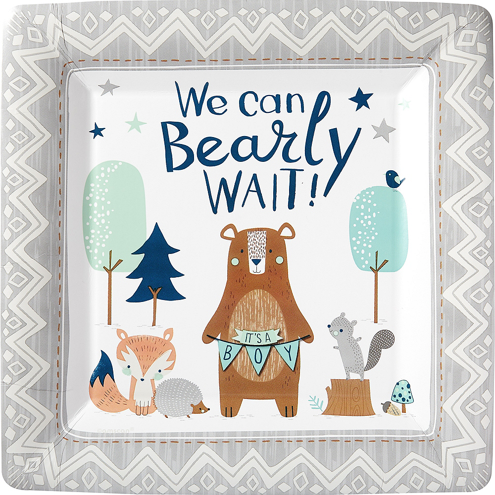 Can Bearly Wait Dinner Plates 8ct Image #1