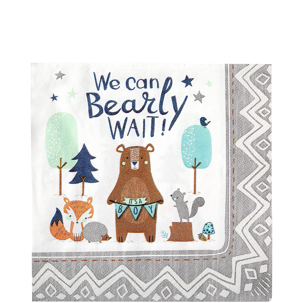 Can Bearly Wait Lunch Napkins 16ct Image #1