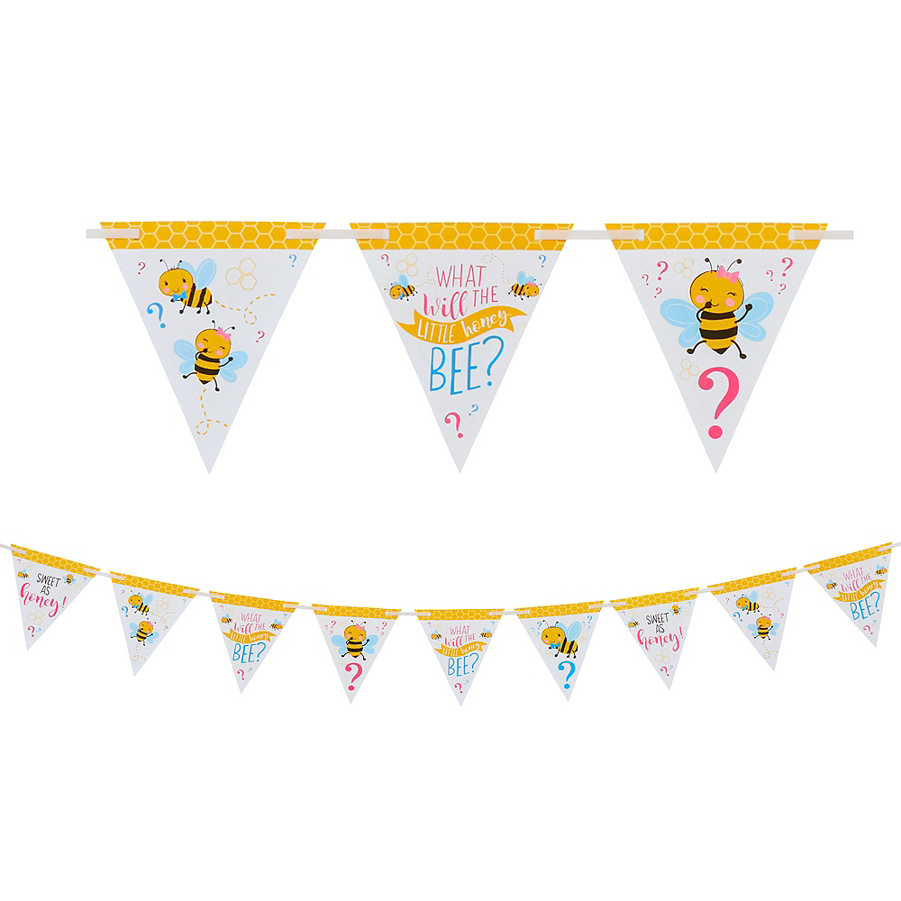 Little Honey Bee Pennant Banner Image #1
