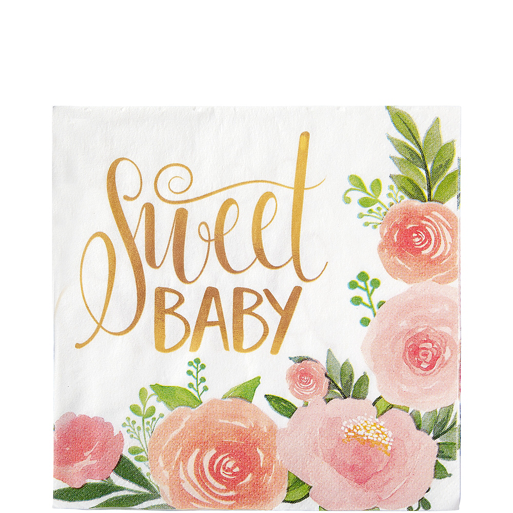 Floral Baby Lunch Napkins 16ct Image #1
