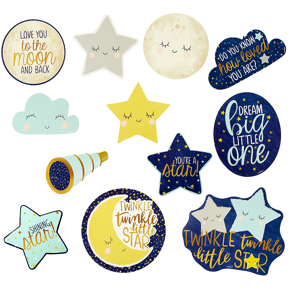 44460d3ca Twinkle Twinkle Little Star Cutouts 12ct | Party City Canada
