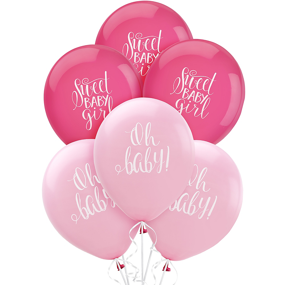 Floral Baby Balloons 15ct Image #1