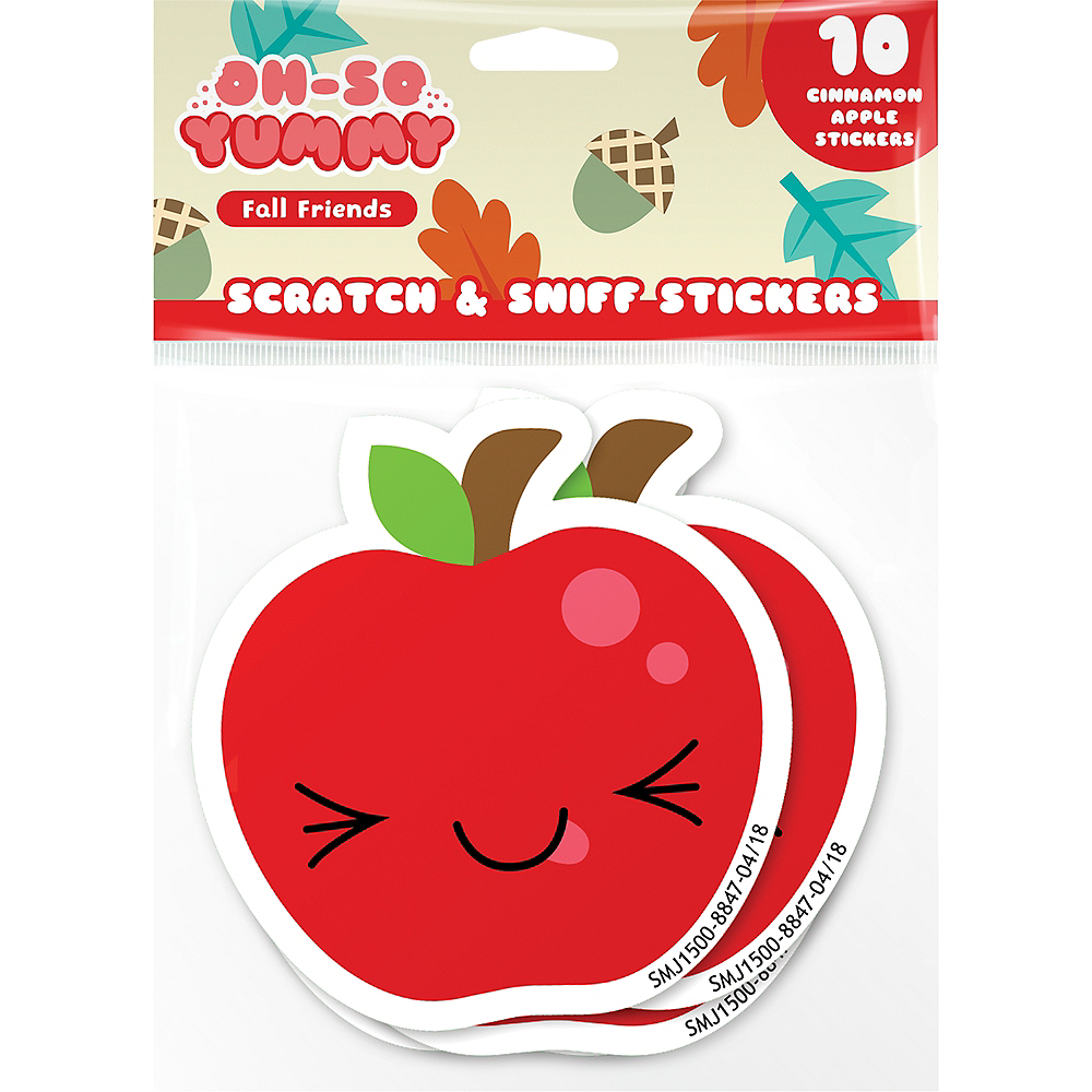 Smickers Cinnamon Apple Scratch & Sniff Stickers 10ct Image #1