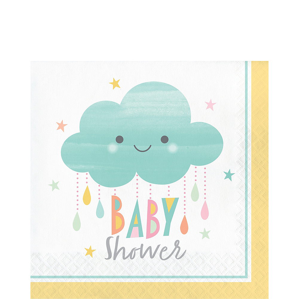 Happy Clouds Baby Shower Lunch Napkins 16ct Image #1