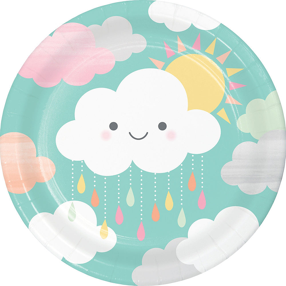 Happy Clouds Lunch Plates 8ct Image #1