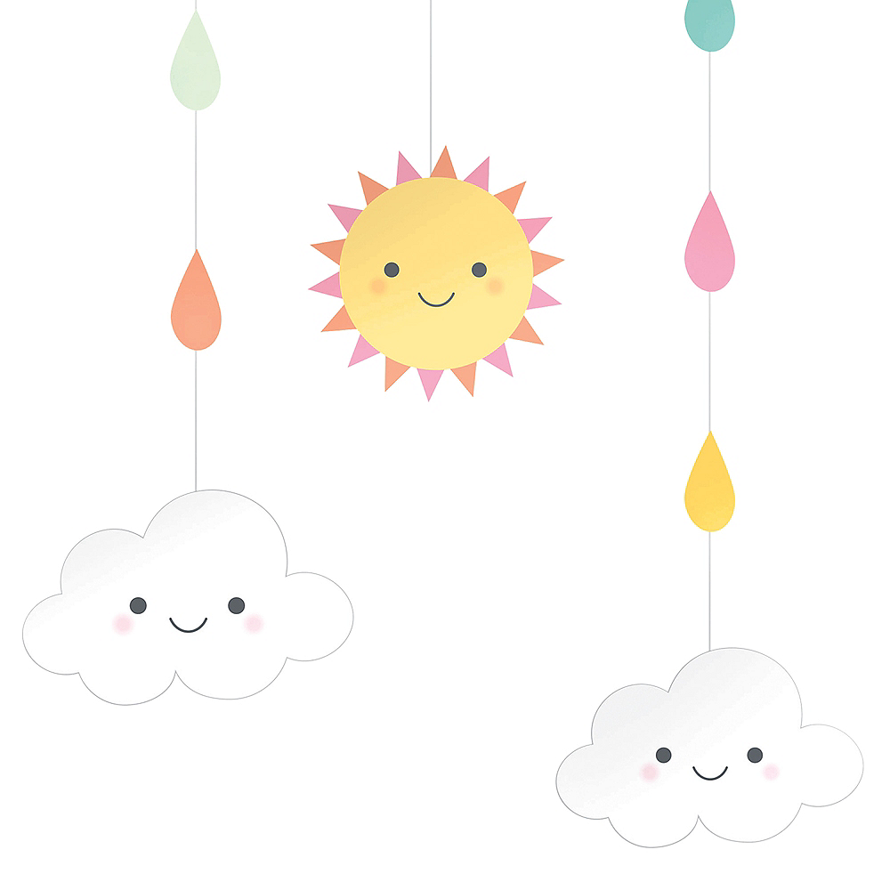 Happy Clouds String Decoration Image #2