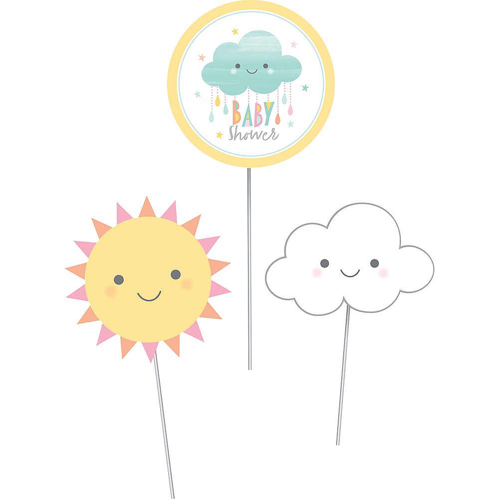 Happy Clouds Centerpiece Sticks 3ct Image #2