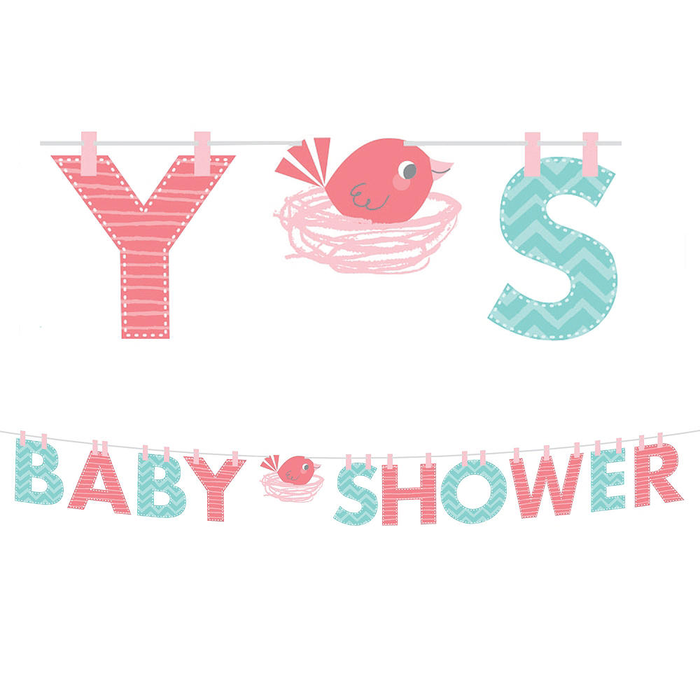 Hello Girl Baby Shower Letter Banner Image #1