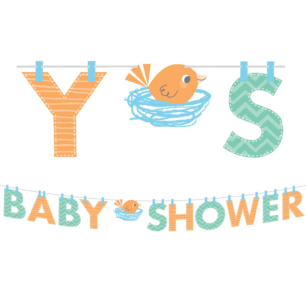 Hello Boy Baby Shower Letter Banner Image #1