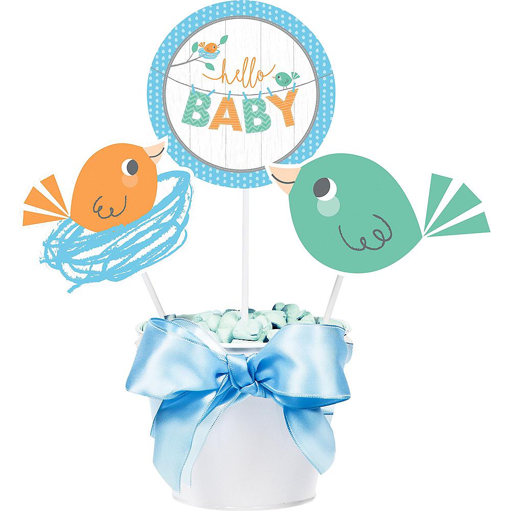 Hello Boy Baby Shower Centerpiece Sticks 3ct Image #1
