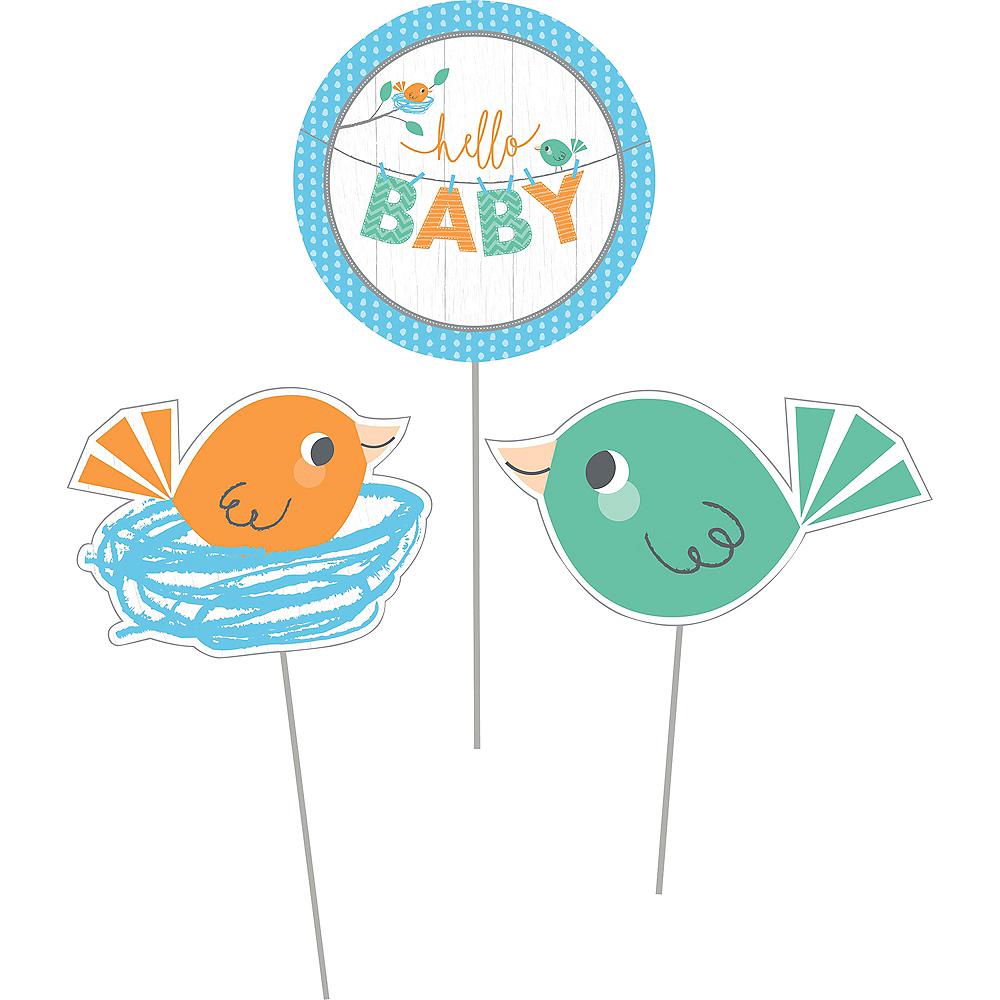 Hello Boy Baby Shower Centerpiece Sticks 3ct Image #2