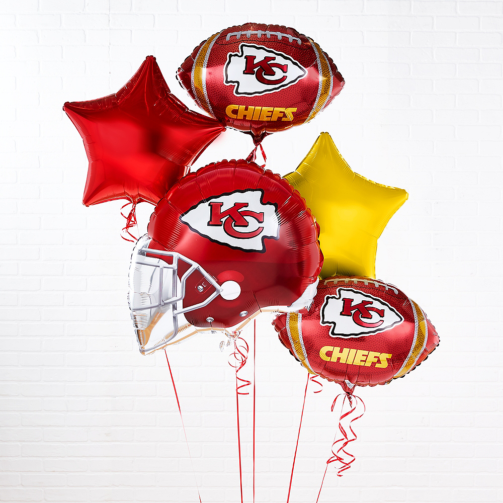 Kansas City Chiefs Helmet & Stars Balloon Kit Image #1