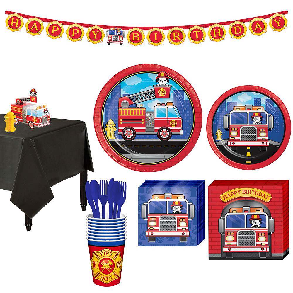 Fire Truck Basic Party Kit for 8 Guests Image #1