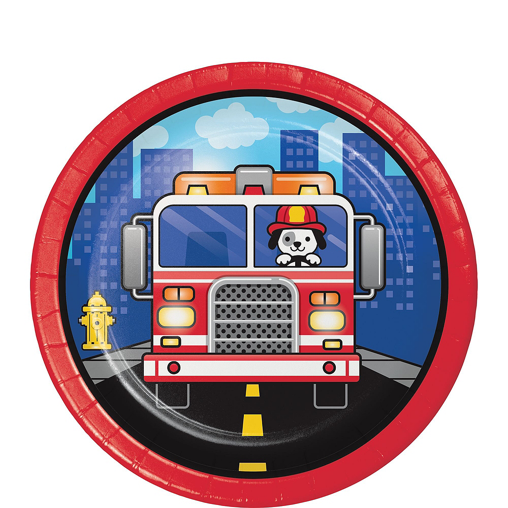 Fire Truck Basic Party Kit for 8 Guests Image #2