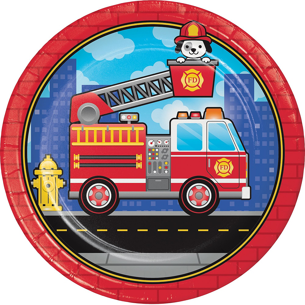 Fire Truck Basic Party Kit for 8 Guests Image #3