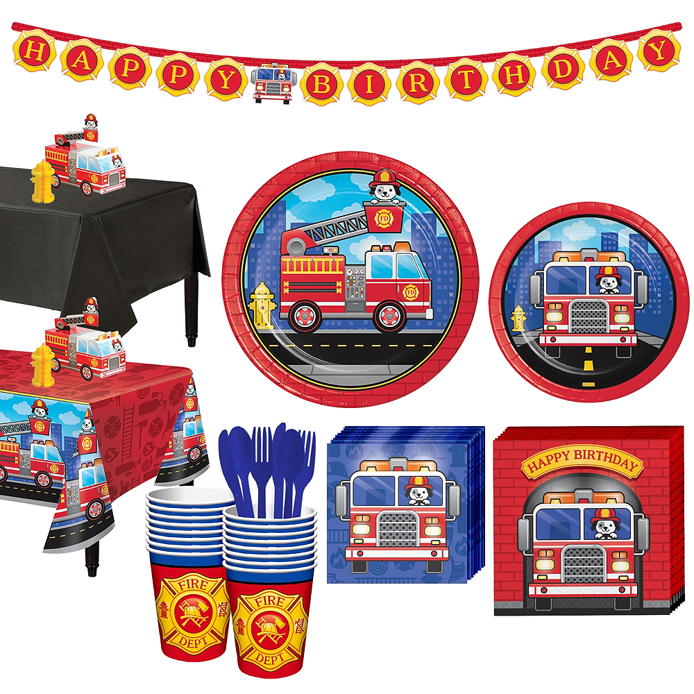Fire Truck Basic Party Kit for 16 Guests Image #1